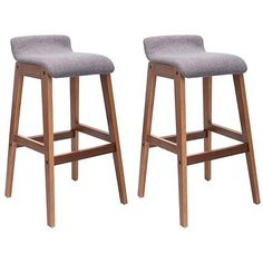 Set of 2 Bentwood Bar Stools Counter Height Modern Bistro Kitchen Pub Chair New
