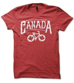 Canada Bicycle T-shirt. Bike tshirt. Cycling graphic tee.