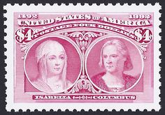 United States Scott #2625c (22 May 1992) Queen Isabella of Spain and Christopher Columbus.