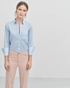 """New! Did you know you can now find out how every garment was made? Click the """"Who Made It"""" Tab. <br /><br /> Classic shirt with an updated modern shape. Tailored in comfortable stretch cotton with a straight fit and small neat collar. A perfect everyday"""