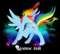 Rainbow Dash Silhouette T-shirt Design by jewlecho.deviantart.com on @deviantART