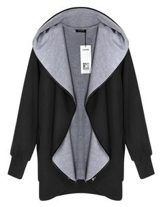 ACEVOG Women Fashion Casual Hooded Cotton Blend Pure Color Zipper Closure Thick Sports Coat Sweatshirt - Loluxe - 1