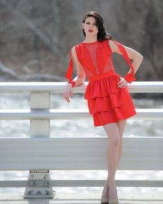 You don't have to leave Ohio to find great style fashion is alive and well here in the Midwest! Dress by @tidalcool  #handmade #madebyhands #fashion #designer #fashiondesigner #cvnp #tidalcool #ooak #Cleveland #shopsmall #reddress #couture #eveningwear #cocktaildress #supportlocal #nyfw #madeinohio