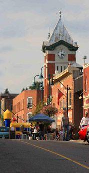 Historic old post office clock tower ..... a downtown Bracebridge, Ontario