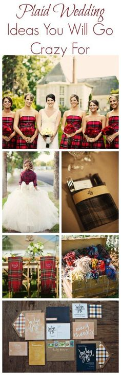 15 Ways To Use Plaid At Your Wedding - Rustic Wedding Chic