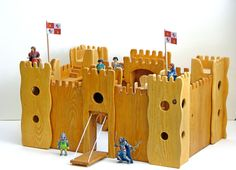 wooden regal castles it is a wooden castle with 4 2 floor towers