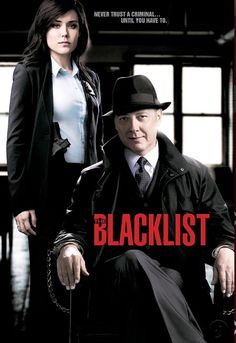"The Blacklist - Megan Boone as Elizabeth Keen, and James Spader as Raymond ""Red"" Reddington, NBC (2013)"
