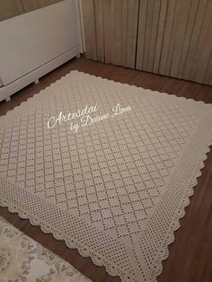 Handmade Placemats Set of Crocheted Placemats Tunisian Crochet, Knit Crochet, Crochet Placemat Patterns, Zeina, Crochet Home, Yarn Crafts, Rugs On Carpet, Knitting, Handmade