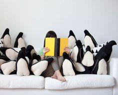 penguin pillows!