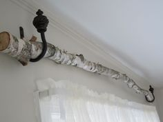 birch tree curtains | birch tree curtain rod, hung it using the tie-back curtain ... | Bedr ...