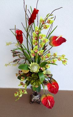#Tropical #arrangement.Designed by Arcadia Floral & Home Decor