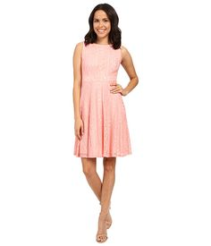 Sangria Crochet Lace Fit & Flare Dresss | $28.99 | 6pm.com