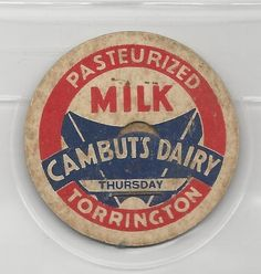 Cambuts Dairy milk cap-Torrington, Connecticut