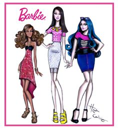 Barbie now has 3 new body types. Petite, Tall & Curvy. #Barbie #TheDollEvolves