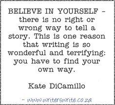 Quotable – Kate DiCamillo – Writers Write
