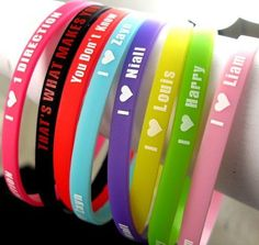 One Direction 1D 5mm silicone bracele... for only $2.80