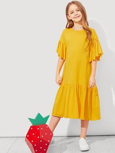 frill trim dress Girls frill trim dress,Girls frill trim dress, Girls Button Up Pocket Front Shirt Dress Frocks For Girls, Dresses Kids Girl, Kids Outfits, Flower Girl Dresses, Work Outfits, Preteen Fashion, Kids Fashion, Baby Dress Patterns, Evening Dresses