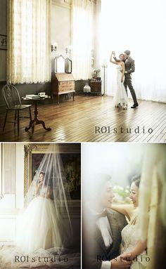 Korean Pre-wedding Photography Studio ROI Studio Korean Wedding Photography, Bridal Photography, Wedding Photography Inspiration, Pre Wedding Poses, Pre Wedding Photoshoot, Wedding Pics, Wedding Portraits, Studio, Korean Photoshoot
