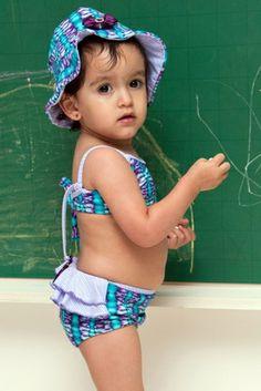Princess Baby/Toddler Bikini  - Lemons & Limes Kids Swimwear #babybikini #purplebabybikini #babyruffles