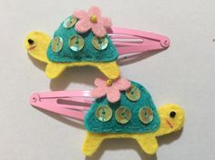 Girls Felt Hair Clips by MemiKidsAccessories on Etsy