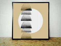 Tan Art Print Printable Tan Art Beige Wall Art Tan by CristylClear