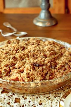 Sour Cream Apple Pie Deluxe Recipe with Crumb Topping