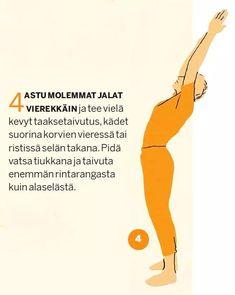 Tee tämä liikesarja joka päivä. Health And Fitness Tips, Healthier You, Mini Me, Excercise, Yoga Fitness, Gym Workouts, Pilates, Feel Good, Motivation