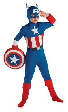 Kids Captain America Costume