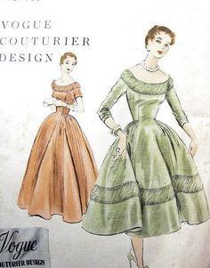 Vogue788 from vintage Vogue patterns (1950s?)