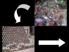 Construyendo Casas con Botellas de plástico y vidrio.