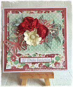 Dla mamy Floral Wreath, Wreaths, Cards, Handmade, Decor, Floral Crown, Hand Made, Decoration, Door Wreaths