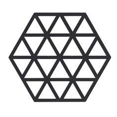 Triangles Gryteunderlag, Sort - VE2 - Zone Denmark - RoyalDesign.no