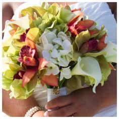 bridal bouquet destin beach wedding by Princess Wedding Co
