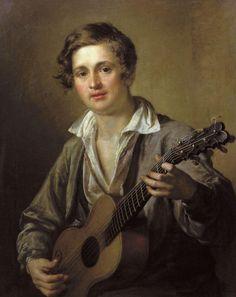 Tropinin, Vasily Andreievich (1776-1857) - The Guitar Player, 1823, Tretyakov Gallery, Moscow