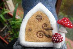 Needle felted FAIRY'S DOORS made and persponalised by CarvedinWool