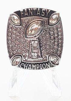 eef3800dd Fantasy Football Ring 2018 Championship Ring Trophy NFL FFL Platinum USA  SELLER!