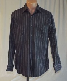 J. Ferrar Medium 15-15 1/2 Dress Shirt Long Sleeve #JFerrar