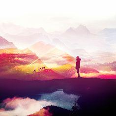 / Mountains [ Something Random Today ] / on Behance #photoshop #art #illustration #photography #photo #mountains #nature