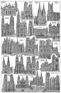 Illustrated plates from the Larousse Universel in two volumes of 1922.  __ Cathédrales posted by Ωméga *, via Flickr