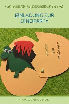 Einladung zur Dinoparty zum Kindergeburtstag