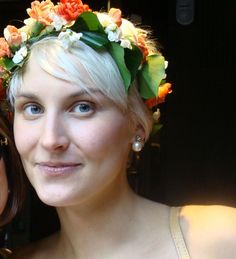crown of flowers we made for Esme's wedding