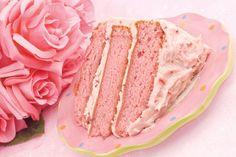 Fresh Strawberry Cake Recipe - no Jello or food coloring