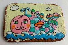 Чудо-Юдо рыба кит! #пряники #имбирныепряники #козули #gingerbread #ginger_notes_  #handmade  https://www.instagram.com/ginger_notes_/