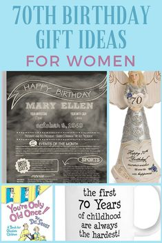 70th Birthday Gift Ideas For Women