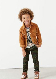 Pantalon imprimé camouflage   MANGO KIDS
