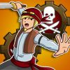 Steam Pirate - http://zoopgames.com/steam-pirate/ -  Information:  Play as a legendary pirate of the 7 seas and skies! Defend your treasure maps using your dual swords and dual pistols. And if that's not enough, drop some butt-kickin' turrets on them as well!  Features:   Action-packed Hack n' Slash  Tower defense... - defense, hack, pirate, robot, Ship, slash, steampunk, tower, turret