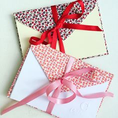 Envelopes de tecido. 💕