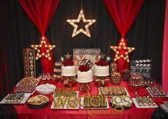 Hollywood themed quince dessert table http://www.ldoweddings.com/hollywood-quince/nggallery/page/1