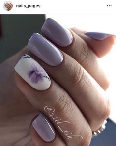 83 stunning nail art ideas~ Page 6 of 83 Inspiration Diary Famous Last Wor. Perfect Nails, Gorgeous Nails, Pretty Nails, Classy Nails, Stylish Nails, Square Nail Designs, Nail Art Designs, Flower Nail Designs, Purple Nails