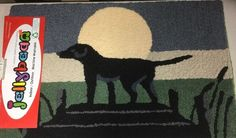 Jellybean Lab Pet Lovers In Moonlight Rug New 21x33 Home Decor NWT Lab Lovers #Jellybean